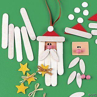 Enfeites de natal com palito de picolé - Pra Gente Miúda