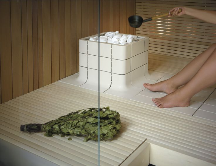 Integrated Nuoska sauna heater won FenniaPrize for its design 2012. It is made of ceramic. Photo by www.tulikivi.com