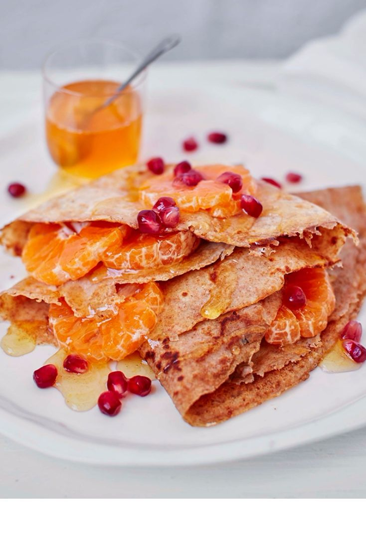 These spelt pancakes have a delicious sweet and nutty flavour.