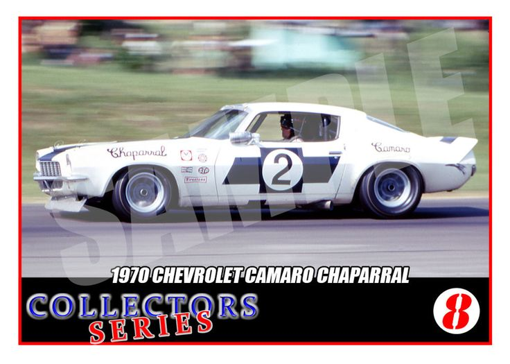 1970 Chevrolet Camaro Chaparral # 2 Trading Card-SCCA Racing Trans Am-Ed Leslie | eBay