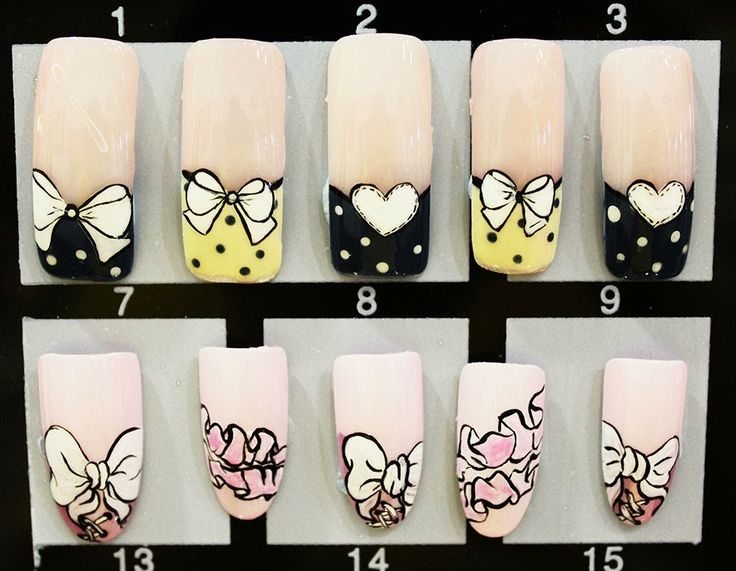 Designed nail samples are for the customers to choose any one of them for their nails.