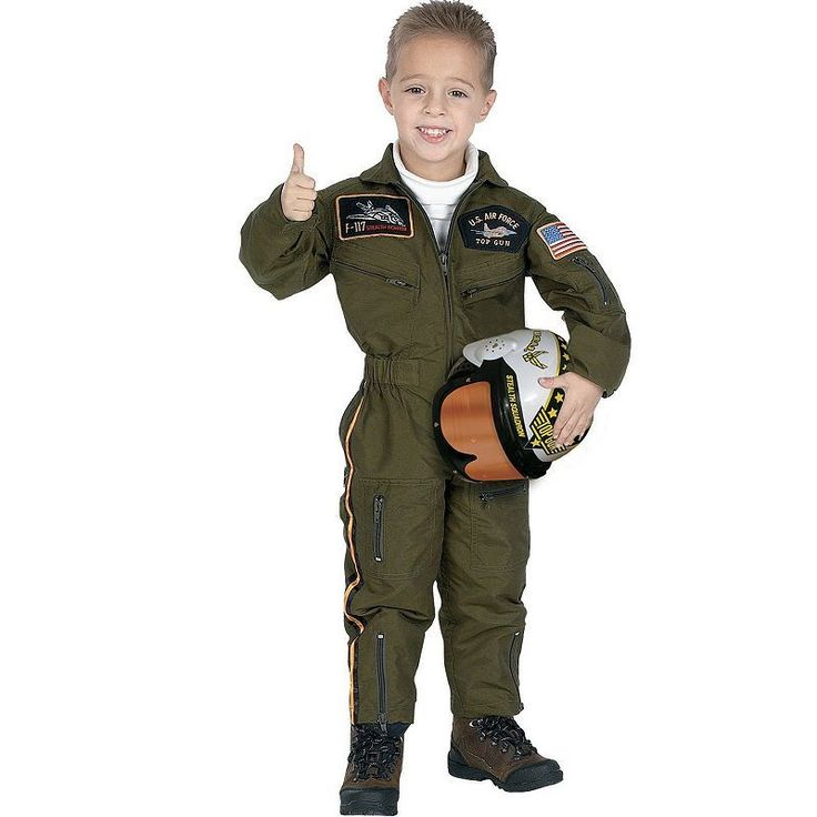 Armed Forces Pilot Costume - Toddler, Boy's, Brown