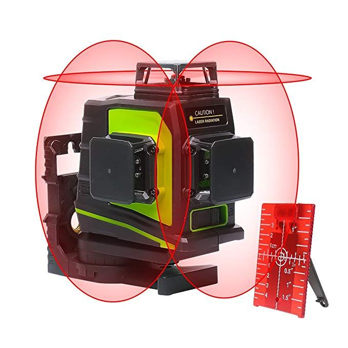 Huepar 3d Self Leveling Laser Level 3x360 Red Cross Line 100ft Three Plane Leveling And Alignment Laser Level Tool Two 3 Laser Levels Planes For Sale Red Beam
