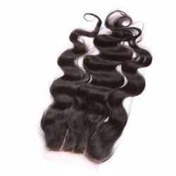 SHARE & Get it FREE | 6A 4x4 Inch Fashion Body Wave Natural Black Brazilian…