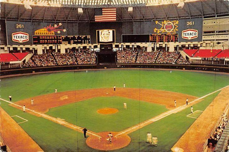 Astrodome Houston Texas Baseball Stadium Vintage 1971