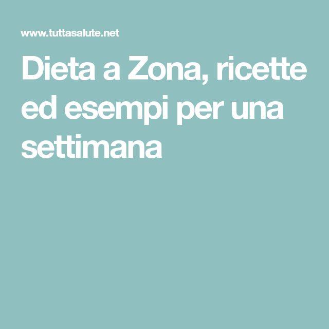 Dieta a Zona, ricette ed esempi per una settimana