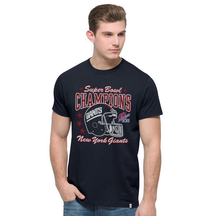 New York Giants '47 On the Fifty Super Bowl XXI Champ Flanker T-Shirt - Navy