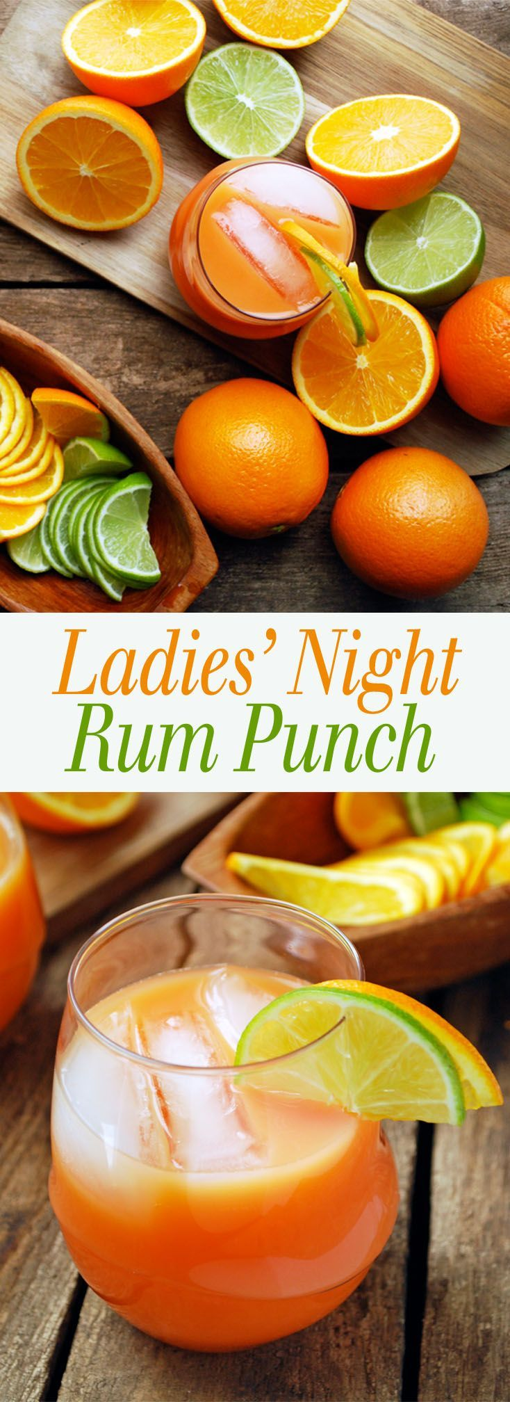 Ladies' Night Rum Punch - Get your girlfriends together and enjoy this simple fruity drink! Also includes a recipe for one if you want to relive the magic alone! theliveinkitchen.com