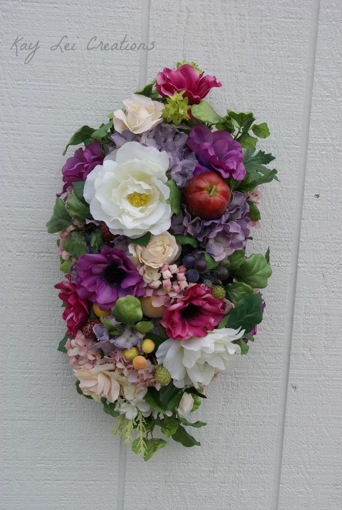 Lively Silk Flower Door/Wall/Table Home Decor Arrangement Purple/White/Fuchsia #KLCBrand