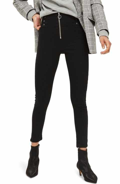 eaaa87614c9 Image result for center front exposed zipper jeans. Topshop Jamie ...