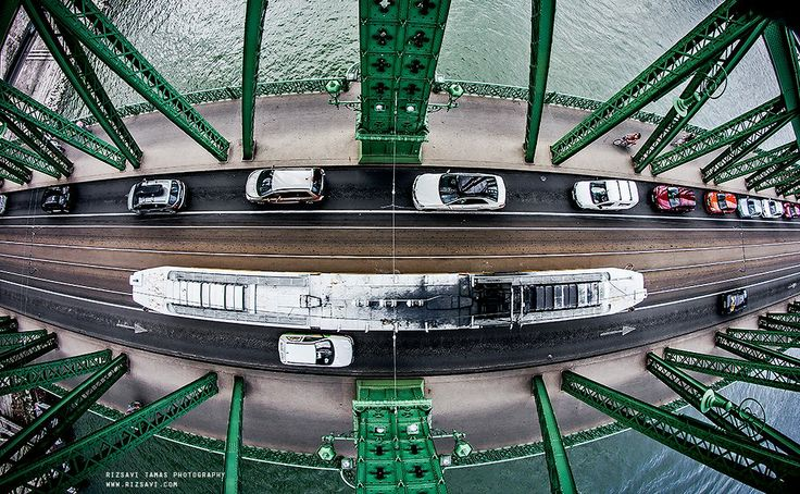 Inspiring Budapest. View from the top of Liberty Bridge