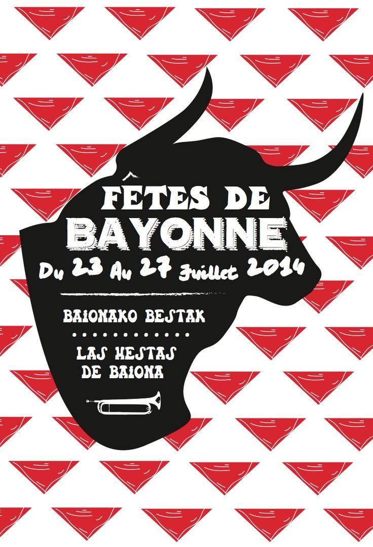 // concours affiche // fetes de Bayonne 2014 // by Valentine //