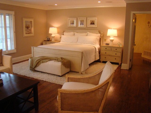 Beautiful Neutral Bedroom Ideas for Couples: Modest Couple Neutral Bedroom Ideas With White Themed Bed Bench And Nightstands Illuminated By ...