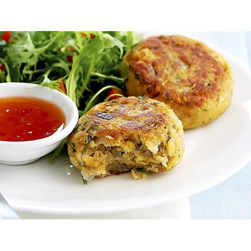 Chickpea and tuna patties recipe - By Woman's Day, Wonderful served warm or cold, these tasty chickpea and tuna patties are delicious served on their own with a salad or as a healthy burger filling.