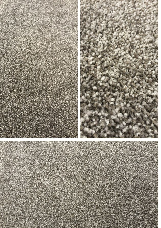 A heavy duty Mohawk, commercial wear rated SMARTSTRAND carpet that can withstand even the toughest stains (like bleach!) and heaviest traffic (even hotels). This carpet is a darker grey, with flecks of black and a lighter grey, with a short and dense construction. This has a quality Mohawk OPTI Back and is built to last! A little more modern in color and softer to the touch. 12' x 161' available @ $.88 SF.