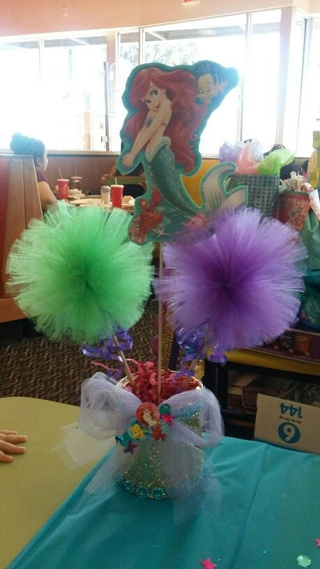 Little Mermaid Birthday Party centerpieces