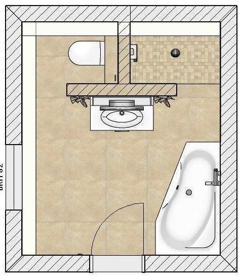 Natürliches Komplettbad mit Raumteiler
