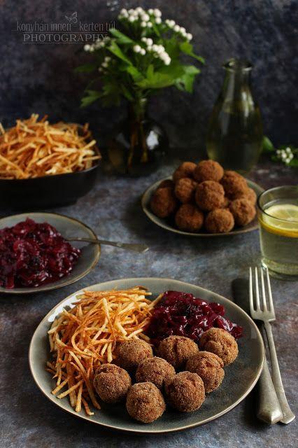 ...konyhán innen - kerten túl...: Fűszeres húsgolyó gyümölcsös lilahagyma lekvárral