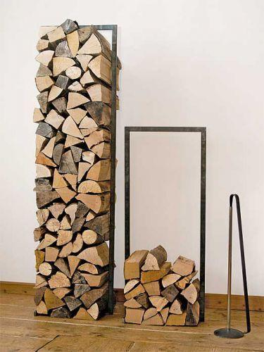 Kaminholzständer Wood Tower H 150 cm, Stahl, schwarz/anthrazit