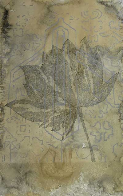 "Belinda Fox, ""On My Way II"", 2009                   screenprint, hand stain               (unique state)                          Dimensions:               68 cm x 60 cm"