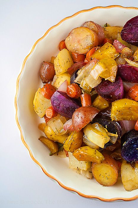Maple-Roasted Root Vegetables (Gluten-Free) plus a whole lot more side dish recipes for #FallFest; 2013 The Heritage Cook