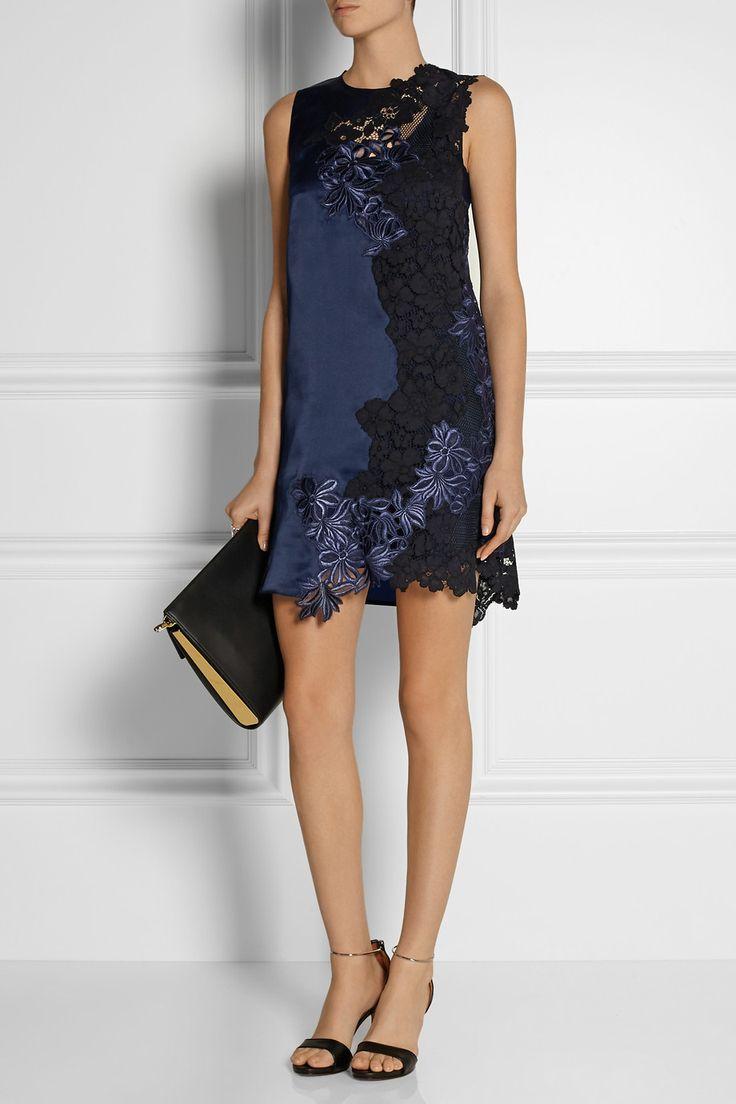 3.1 Phillip Lim | Silk-satin and guipure lace mini dress $895