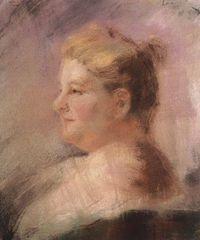 "Retrato de Emilia Pardo Bazán, novelista, periodista, ensayista y crítica literaria. Escribió entre otras obras ""Los Pazos de Ulloa""."