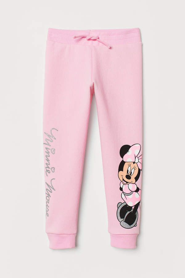 Gray Pink Youth Girls Cute Mix Bows Minnie Leggings