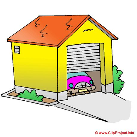 Garage clipart its about a cat a garage the family car and a music speaker gfta - Dessin garage ...