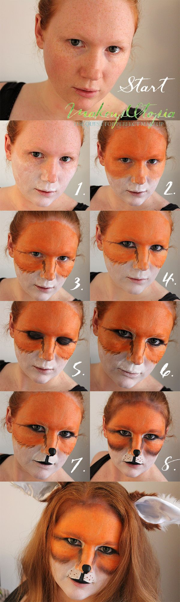 Makeup Utopia | What Does The Fox Say Makeup Tutorial | http://makeuputopia.com #halloween