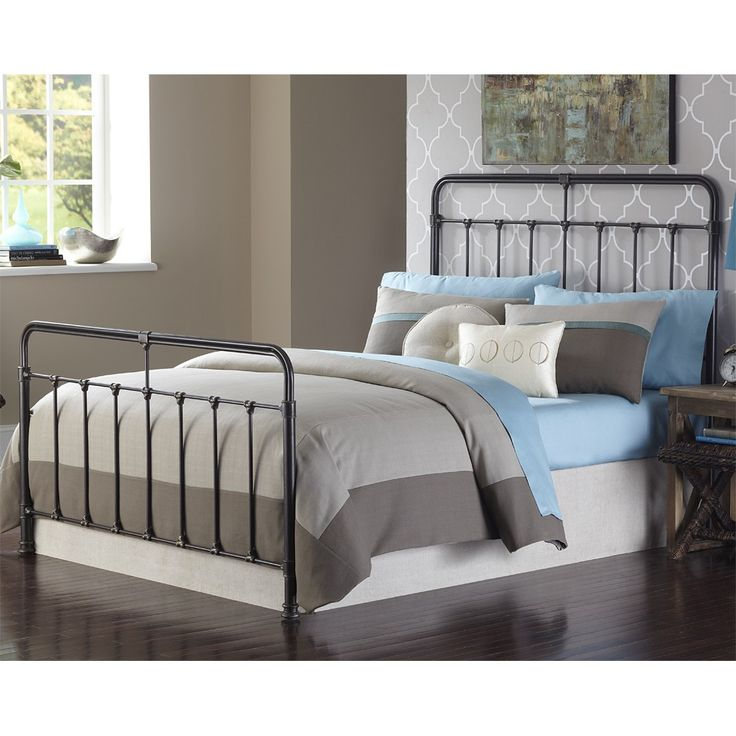 Fairfield Iron Bed in Dark Roast by