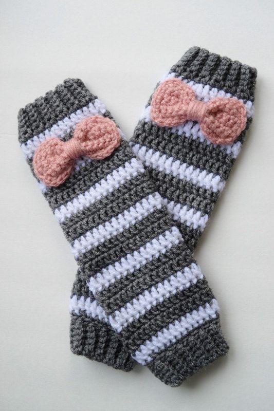 Crochet leg warmers by OverTheAppleTree