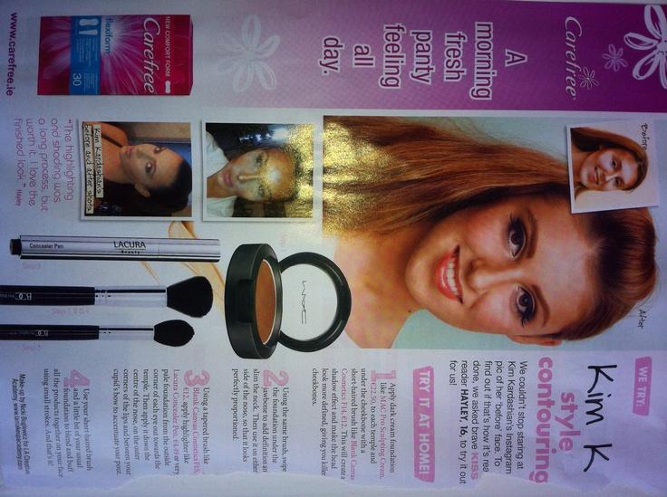 Kim K look in Kiss Magazine