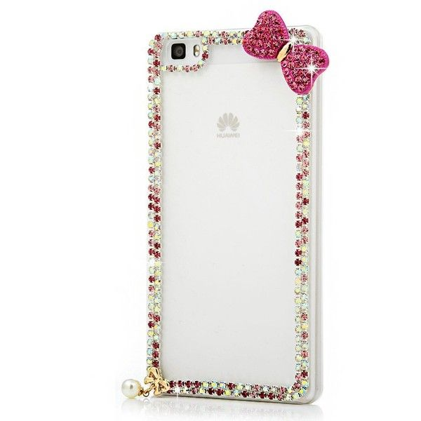 P8 Lite Case, Huawei P8 Lite Case Mavis's Diary 3D Handmade Bling... ($6.99) ❤ liked on Polyvore featuring accessories and tech accessories