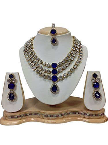 VVS Jewellers Blue Stone Bollywood Style Gold Plated Wedd... http://www.amazon.in/dp/B06WLJF7FN/ref=cm_sw_r_pi_dp_x_KsTNyb0WWFDQH