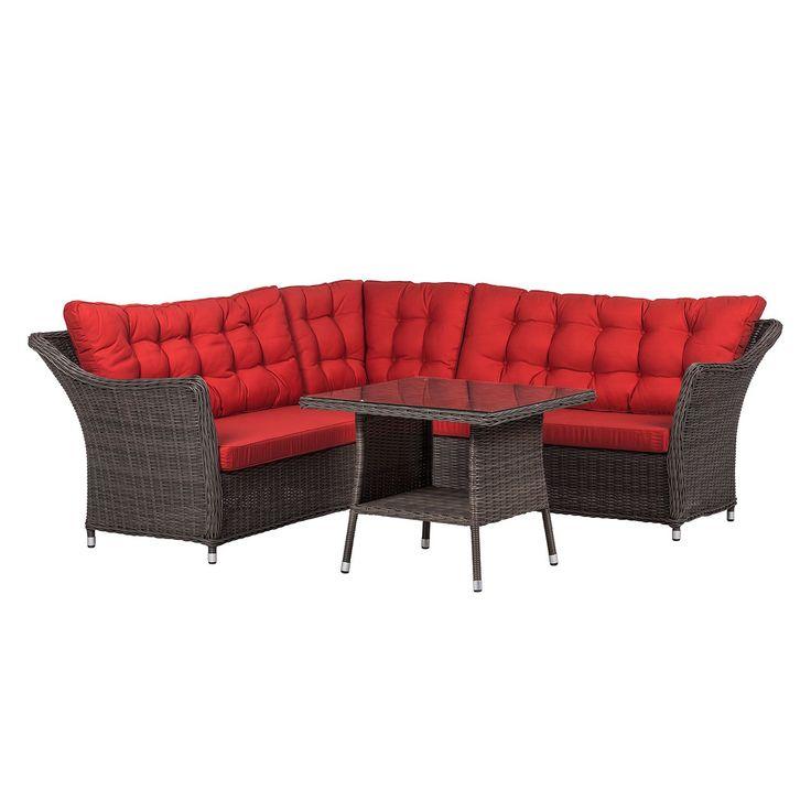 New  teilig Polyrattan Rot Maison Belfort Jetzt bestellen unter https moebel ladendirekt de garten gartenmoebel loungemoebel garten uid udba