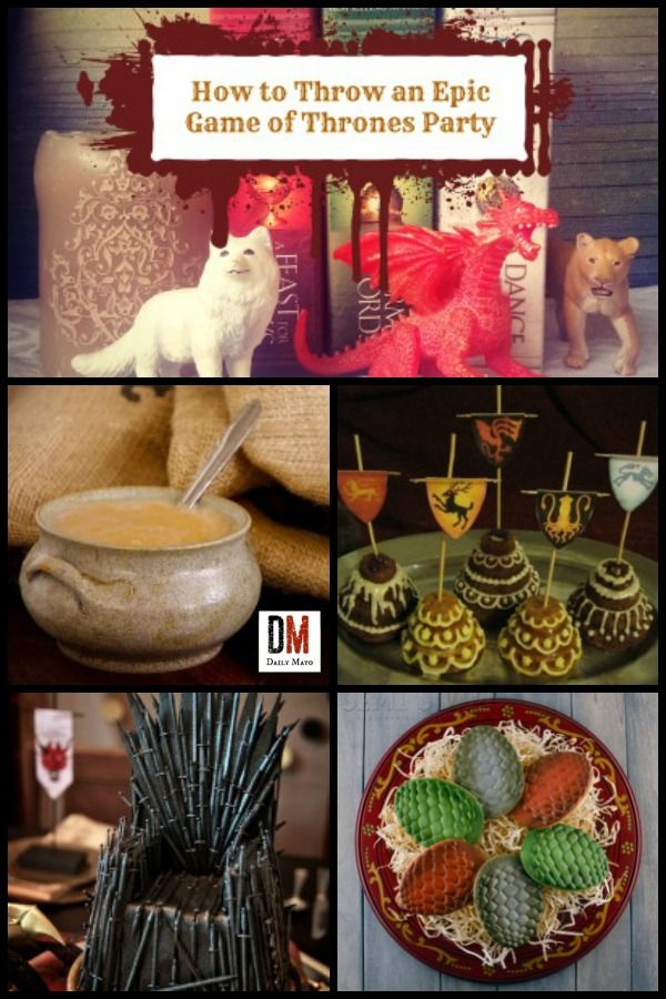 Need some inspiration for your next Game of Thrones party? These food, decoration, and drink ideas will have you feeling like you fell into Westeros.