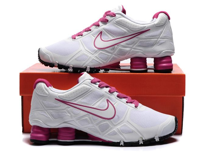 Nike Shox -Turbo12 Women White-Pink Shoes
