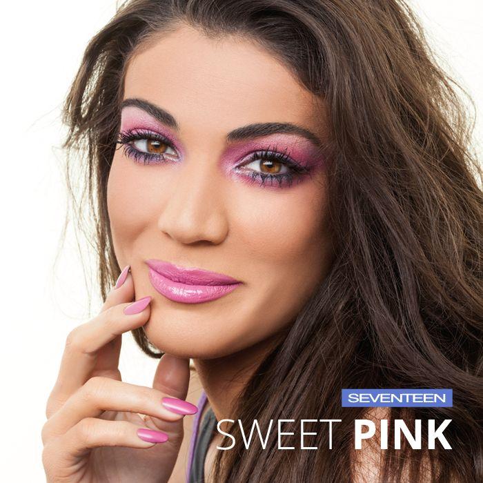 Sweet Pink Summer 2016 | Seventeen Cosmetics -All Day Lip Color No.25 -Bronzing Powder No.02 -Extra Sparkle Shadow No.13 -Extra Sparkle Shadow Satin No.227 -Pearl Blush Powder No.07 -Lash Elegance Mascara No.01 -Super Smooth Eye Liner Pencil No.01 -Matt Plus Liquid Foundation No.08 #Seventeen #Cosmetics #makeup