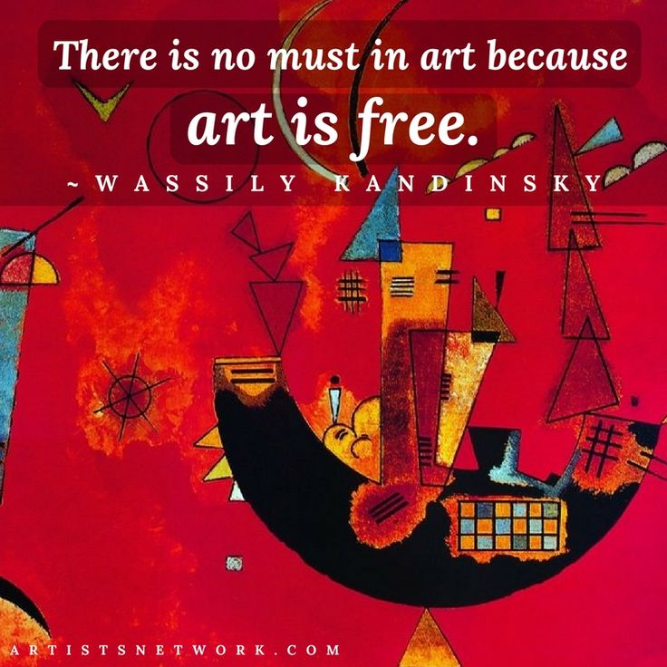 Does art free you?   #artistquotes #artquotes #Kandinsky