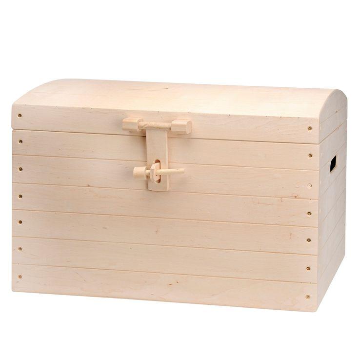 Heeft u kindje ook zoveel speelgoed dat rond slingert? Deze grote kist is dan een uitkomst. Het is een blank houten kisten gemaakt van multiplex. Ideaal als u de kist nog een persoonlijk tintje wilt geven door hem te schilderen of u laat uw eigen kindje er mooie tekeningen op maken. Afmetingen: Lengte 73,5 cm x Breedte 41,5cm x Hoogte 53cm Gewicht kist zonder verpakking 7kg  - Houten opbergkist Groot