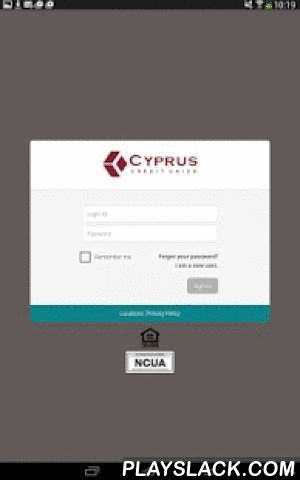Cyprus CU Mobile Banking  Android App - playslack.com , Free mobile access to your Cyprus account on your Android phone. Our fast, free and convenient Mobile Banking lets you check balances, transfer funds, find branch locations and more all from your mobile device. Features: - View balances - Transfer funders - Deposit checks- Search account history - View and compose secure messages - Find the nearest branch or ATM - View loan and savings ratesCyprus Mobile Banking is Safe and Secure…