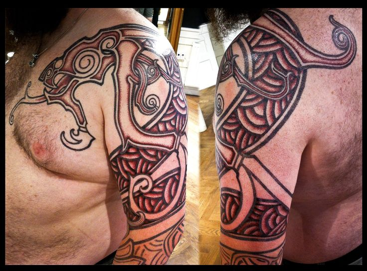 Nordic wyrm by meatshop tattoo tattoo pinterest for Nordic tattoos and meanings