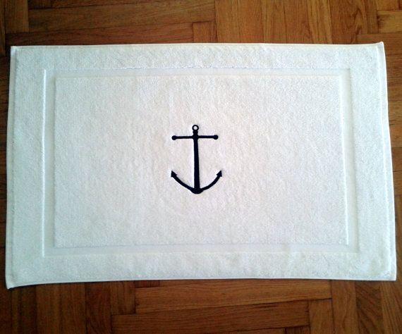 Nautical BATH MAT-Tub mat - Best 25+ Nautical Bath Mats Ideas On Pinterest