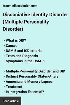 Dissociative Identity Disorder is often misunderstood. Read facts about…