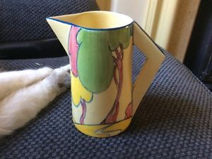 Clarice Cliff Pastel Autumn .Cafe Au Lait Background.Small Jug.No Faults. in Pottery, Porcelain & Glass, Pottery, Clarice Cliff, Decorative/Ornamental   eBay