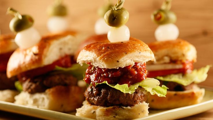 Bloody Bull Burgers with Crunchy Ketchup #whatsfordinner #appetizers # ...