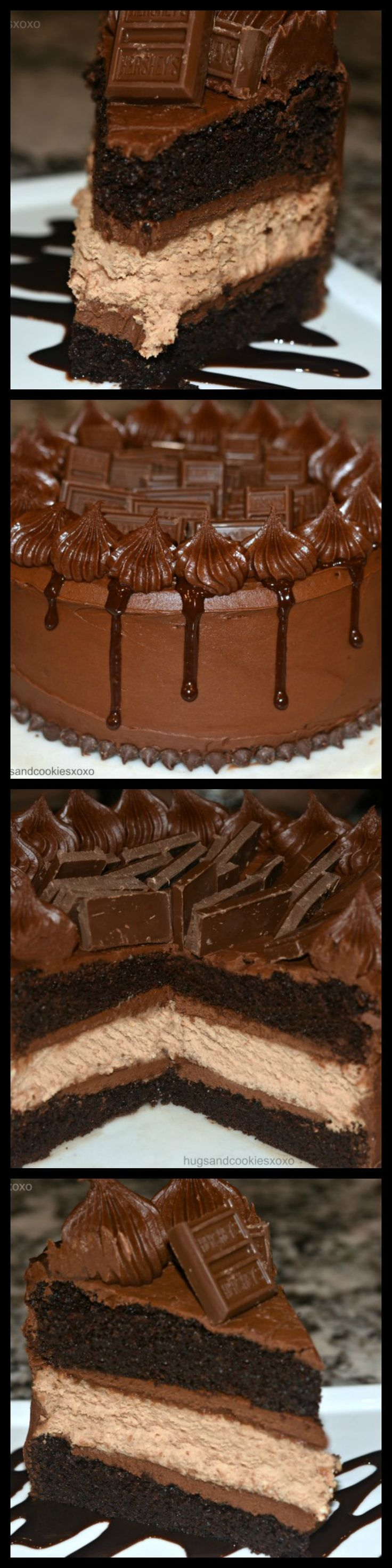 Hershey's Black Out Candy Bar Cake