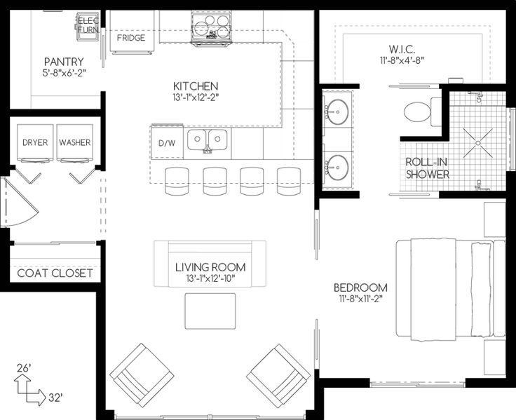This Lovely Small House Plans Style Home With Vacation Homes Influences Plan Has 762 Square Feet Of Living Space The 1 Story Floor Includes