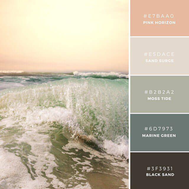 ◆Vintage Sundown 温かみのある夕日を連想させる、控えめな配色のカラーパレット。女性的でソフトなムードを演出でき、ヘルスなど健康思考なアイテムに。